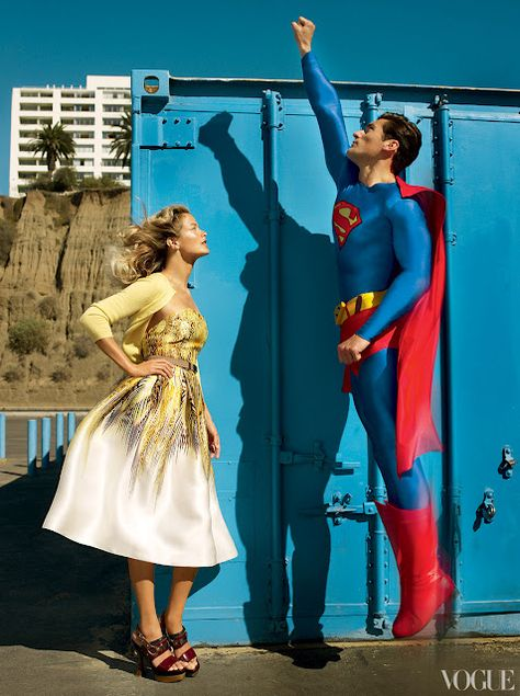 Superman Fashion Editorial - Vogue Archives