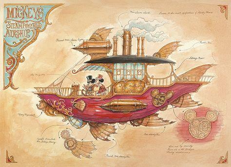 Steampunk Tendencies | Mickeys-Steam-Powered-Airship-mechanical-kingdoms