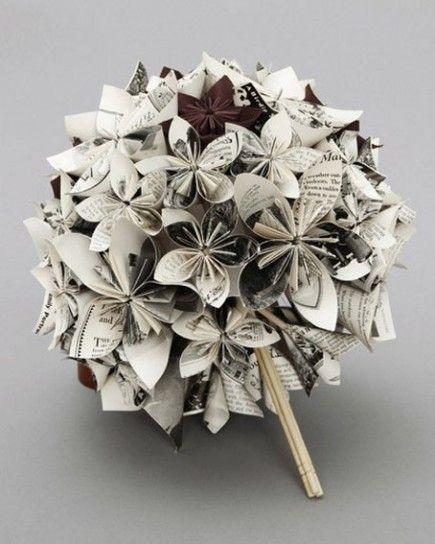 10 Bouquet Da Sposa Particolari Per Un Matrimonio Fuori Dagli Schemi Donnaclick Artigianato Creazioni Coi Fiori Carta Per Origami