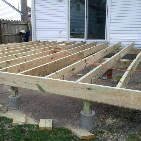 How To Build A Raised Deck Over Concrete Wood