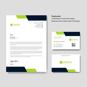 Professional Creative Letterhead And Business Card Vector Template Business Cards Vector Templates Vector Business Card Graphic Design Business Card