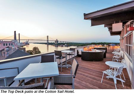 Cotton Sail Hotel Top Deck Savannah Georgia Favs Pinterest Chats And