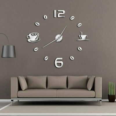 Wall Clock Large Decor Frameless Coffee Bean Kitchen Wall Watch Modern Clock New Fashion Home Garden Ho In 2020 Large Wall Clock Wall Clock Modern Giant Wall Clock