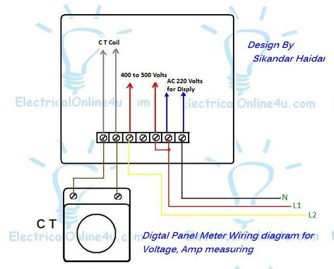 Digital Multi Voltmeter Ammeter Hz Wiring With Diagram With