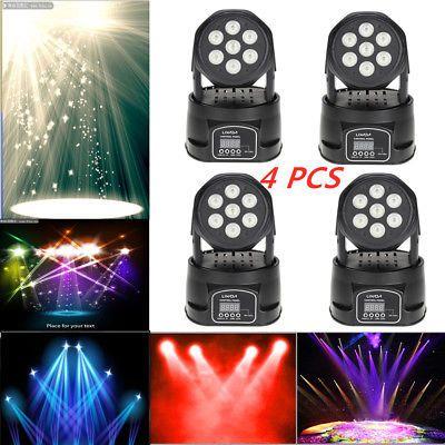 eBay: 1-10 pcs Lixada DMX512 Moving Head Light RGBW LED