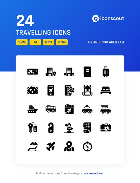 Download Travelling Icon pack - Available in SVG, PNG, EPS, AI & Icon fonts