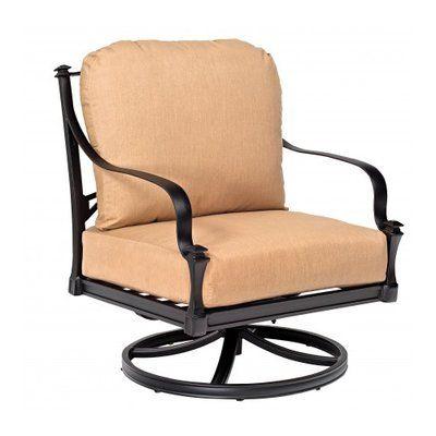 woodard isla rocking patio chair with cushions color brisa