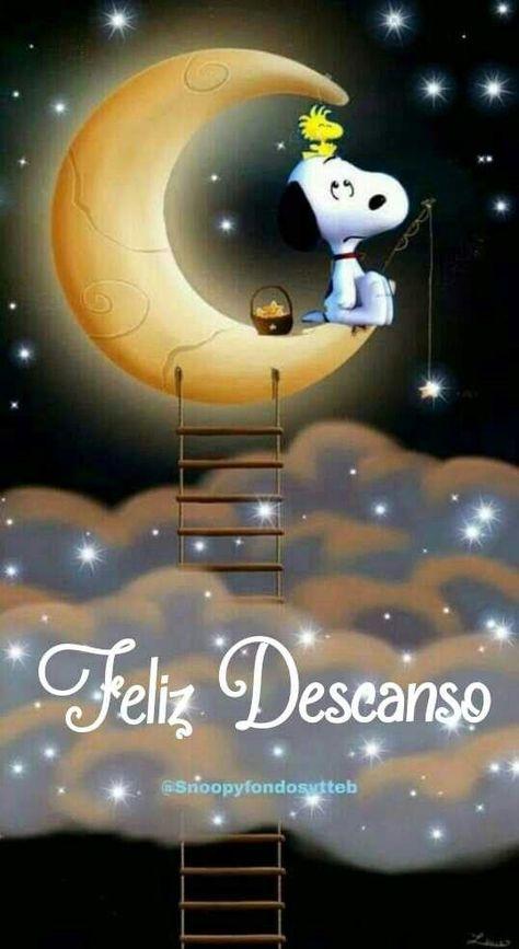 Imágenes Buenas Noches Snoopy Dice Dulces Sueños ➤⭐ Te deseo un merecido descanso para tomar impulso, hasta mañana y buenas noches.
