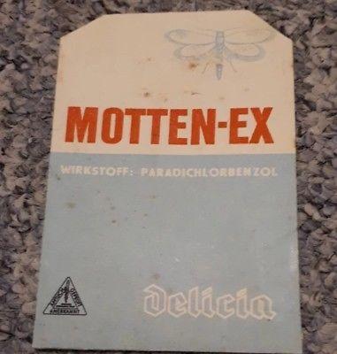 Motten Ex Von Delicia Dealvue Deutschland Ddr Verpackung