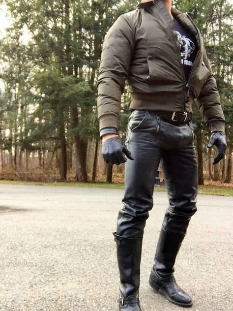 Polizei Lederjacke mit Lederhose kaufen auf Ricardo