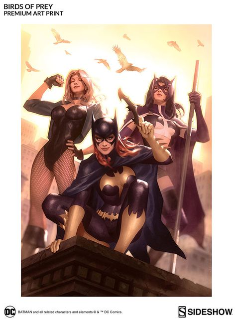 Birds Of Prey Premium Art Print Dc Comics Art Comics Girls Comics