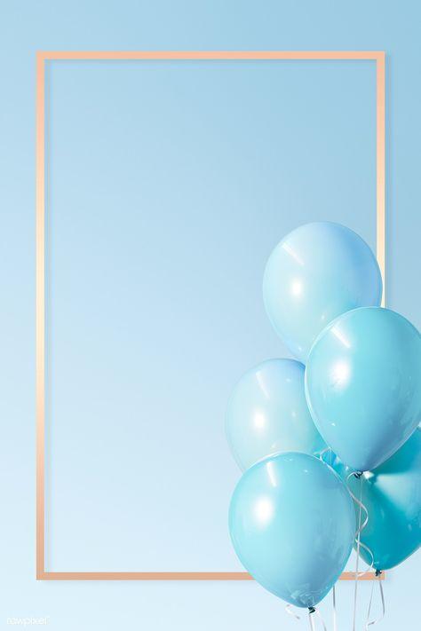 Pastel blue rectangle golden frame | premium image by rawpixel.com / HwangMangjoo