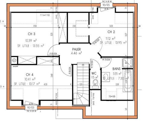 Plan maison écologique le plan du0027une maison écologique au Plessis - plan maison 100m2 a etage