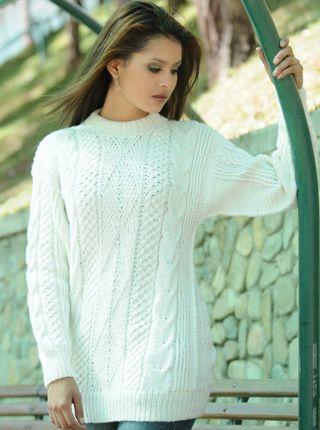 5dc9618065a883 Hand Knit Sweater - Alpaca Mall