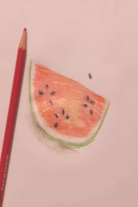 #watermelon #lighting #drawing #heres #about #that #food #did #uwu #sry #the #a #i Heres a watermelon drawing that I did UwU Sry about the lighting-You can find Watermelon art and more on our website.Heres a watermelon drawing t...