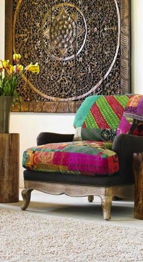 Beautiful patchwork chair!