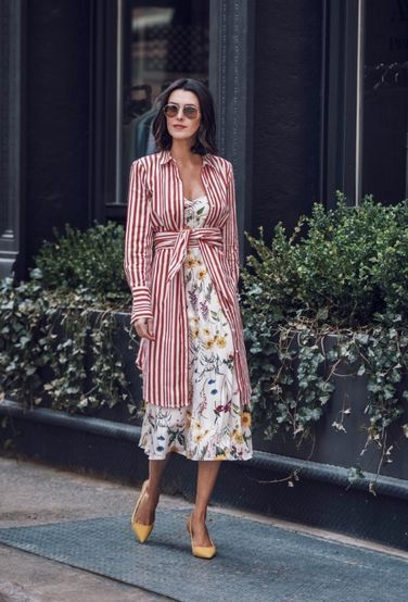 I have notice a slow, yet steady shift over the past few years to midi-length, cinched at the waist, retro-inspired feminine silhouettes regarding dress sty