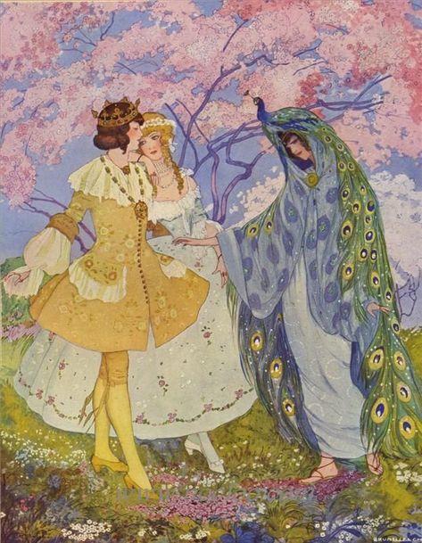 Art Deco Illustration, Book Illustrations, Conte A Paris, Fairytale Art, Italian Artist, Ghibli, Art Inspo, Vintage Art, Childrens Books