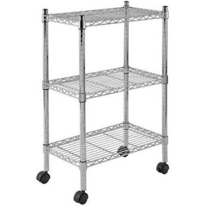 Tall Metal Shelves On Wheels 13 Wire Shelving Wire Shelving