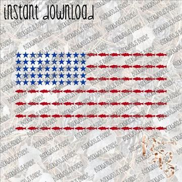 Stars And Stripes Fish Instant Download Print File Png Instant Download Prints Print Sublimation Printing