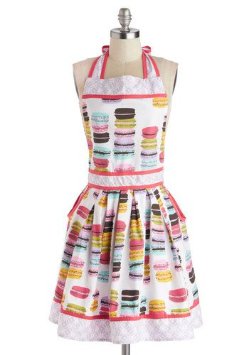 Macaron Maker Apron, #ModCloth. How cheerful is this???