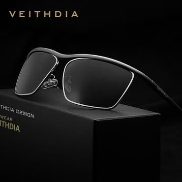 Sun Glasses For Men Aluminum Magnesium Mens Sunglasses Polarized Lens Eyewear Accessories Black