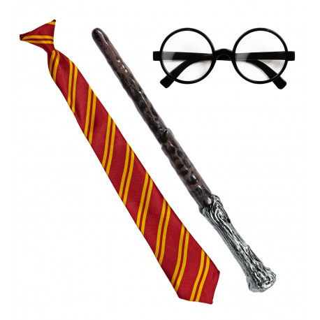 Kit De Harry Potter Con Gafas Varita Y Corbata Comprar Disfraz De Harry Potter Gafas Harry Potter Corbatas