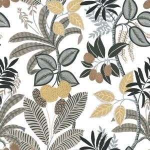 Roommates Funky Jungle White Yellow Vinyl Peelable Roll Covers 28 29 Sq Ft Rmk11578rl The Home Depot Peel And Stick Wallpaper Wallpaper Roll Funky