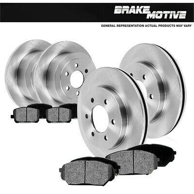 6lug Rear Kit Fits: Chevrolet GMC 2 Brake Rotors High-End 4 Ceramic Pads
