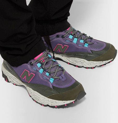 New Balance 801 Leather-trimmed Canvas
