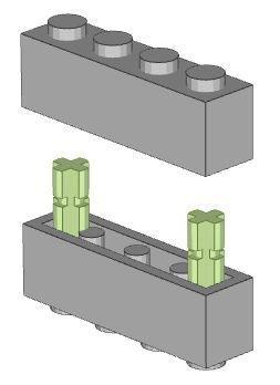 LEGO 4733-2 Sided Stud Technic 1x1 Tan Brown Beige Brick 10 Pieces Per Order