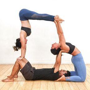 185 Me Gusta 3 Comentarios Audrey Ann Guedelekian ॐ Audreyannyoga En Instagram Littleyogii Eye Yoga Challenge Poses Partner Yoga 3 Person Yoga Poses