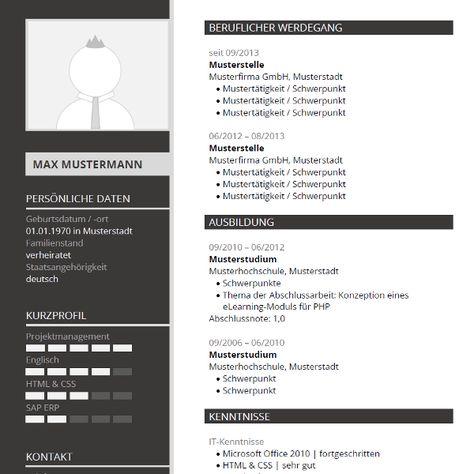Modern CV-Template for Word   Moderne Lebenslauf-Vorlage für Word #cv #lebenslauf #bewerbung