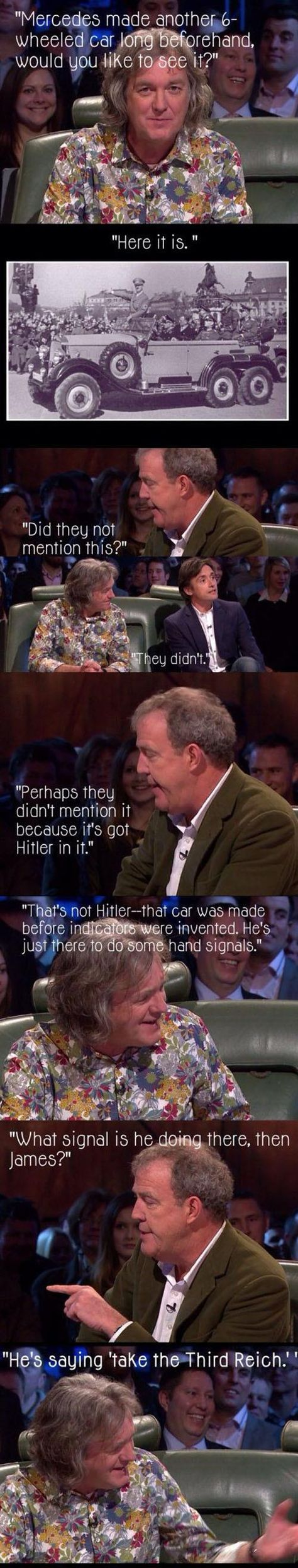 6 wheeled Mercedes on Top Gear