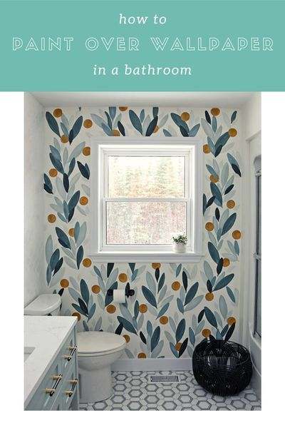 How To Paint Over Wallpaper In A Bathroom Diy Fynes Designs In 2020 Painting Over Wallpaper Home Decor Quotes Living Room Decor On A Budget