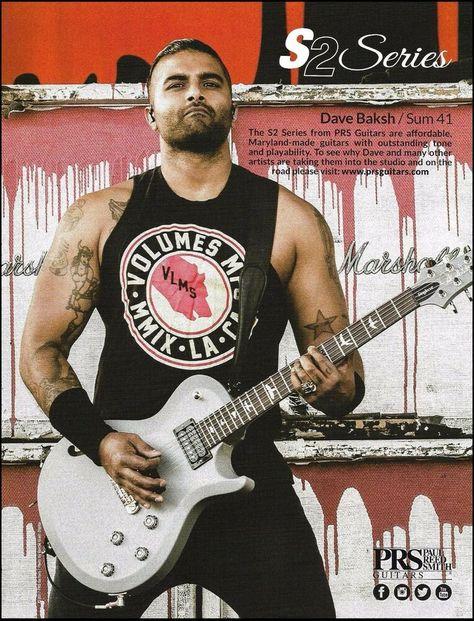 Sum 41 Dave Baksh Prs S2 Series Guitar 2017 Advertisement 8 X 11 Ad Print Prs In 2020 Prs Guitar Guitar Learn Acoustic Guitar