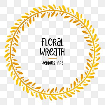 Floral Wreath Golden Circle Frame Element For Wedding Layout Decoration Leaves Cute Ceremony Png And Vector With Transparent Background For Free Download Frame Wreath Wedding Frames Floral Wreath