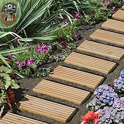 Rollweg Holz 35x250 Cm Gartentritte Holz Tritte Holz Fliesen Fur Den Weg Im Garten Von Gartenpirat Amazon De Garten Garten Haus Und Garten Pflanzen