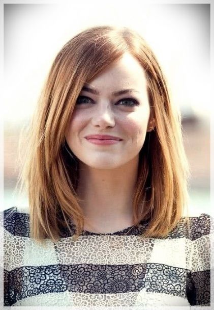 33++ Shoulder length hairstyle for round chubby face trends