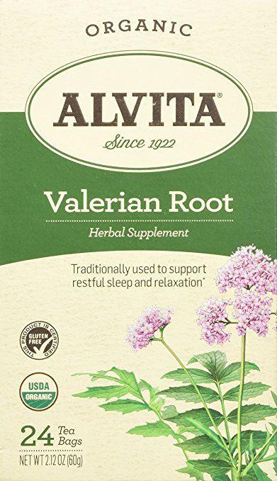 Alvita Organic Herbal Valerian Tea 24 Count Passion Flower Tea Raspberry Tea Organic Green Tea