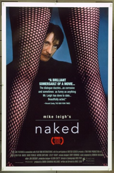 MovieArt Original Film Posters - NAKED (1993)