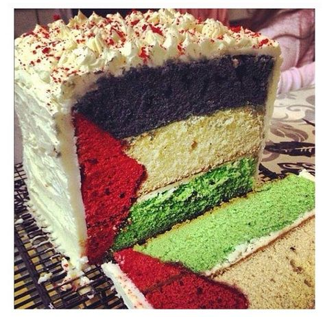 Palestinian flag cake! This is awesome...kd