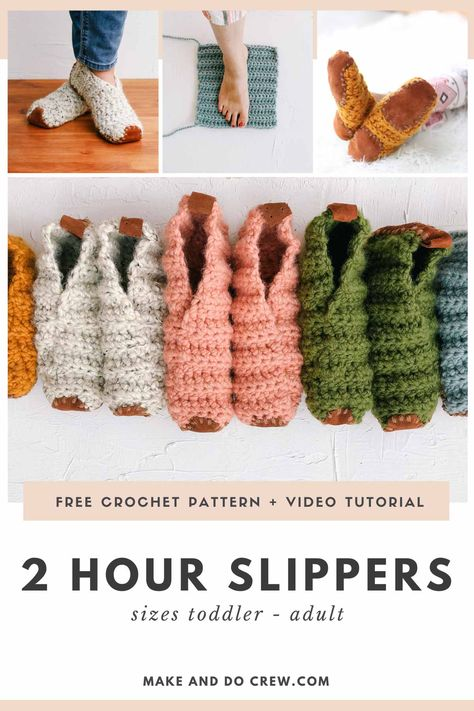 Fast Crochet, Learn To Crochet, Knit Or Crochet, Crochet Gifts, Crochet Stitches, Crochet Baby, Easy Crochet Socks, Crochet Christmas Gifts, Crochet Slippers