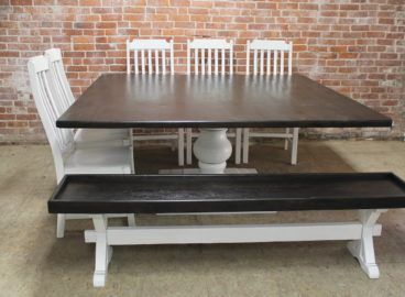 72 Inch Square Pedestal Table W Matching Seating Dining Table