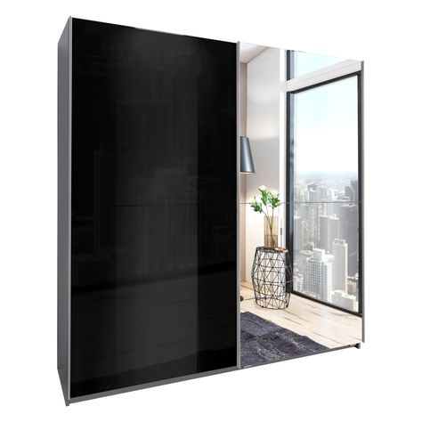 Meppen Wardrobe Black Sliding Wardrobe Wardrobe Furniture Colored Dining Chairs