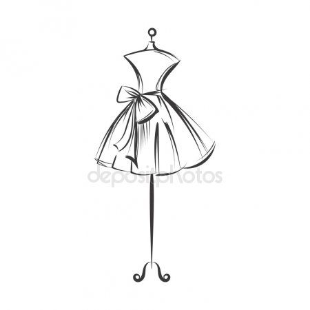 d4d7b4a5552 Mano de maniquí vestido dibujo vector ilustración | Logotipos en ...