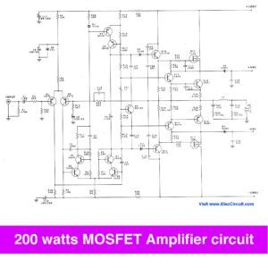 200 watt mosfet amplifier circuit to 300W on class G | Circuits