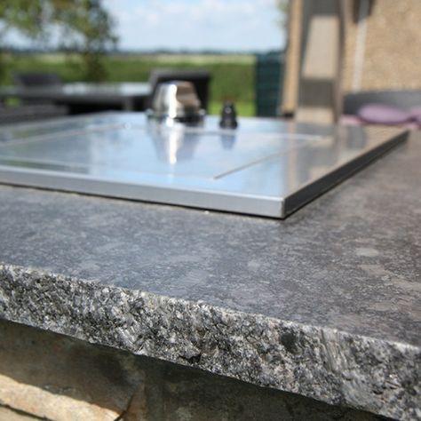 Steel #Grey #Granit - Ein grobkörniges, dunkelgrauer Gabbro, der - granit arbeitsplatte küche