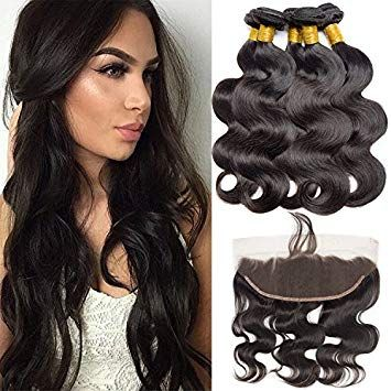 Vipbeauty Virgin Hair Bundles With Frontal Brazilian Body Wave 10 12 14 With 8 13x4 Ear To Ear Lac Hair Bundles Brazilian Human Hair Brazilian Hair