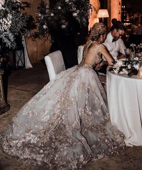 Betty Alabama wows in her regal Galia Lahav blush wedding dress - with its princess silhouette and hand appliqued and beading Image by Tali Photography Stunning Wedding Dresses, Long Wedding Dresses, Blush Wedding Dresses, Wedding Dress Princess, Lace Wedding, Colored Wedding Dress, Reception Dresses, Gown Wedding, Mermaid Wedding
